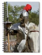 Knight With Lance Spiral Notebook