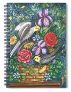 Feathered Frolic Spiral Notebook