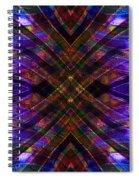 Feathered Stained Glass Spiral Notebook