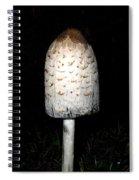 Feathery Mushroom Spiral Notebook