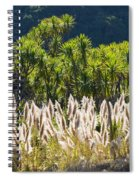 Feathery White Plants Spiral Notebook