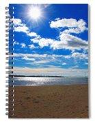 February Blue Spiral Notebook