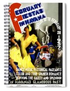 February Fiestas In Havana - Woman Dancing At Carnaval - Retro Travel Poster - Vintage Poster Spiral Notebook