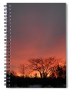 February Morning Red Sky Spiral Notebook