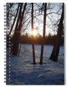 February Sunrise Alongside A Tree Spiral Notebook