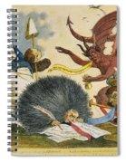 Federalist Cartoon, C1799 Spiral Notebook