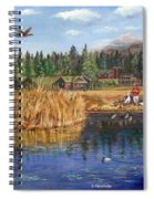 Feeding The Ducks Spiral Notebook
