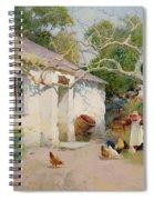 Feeding The Hens Spiral Notebook