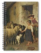Feeding The Sheep Spiral Notebook
