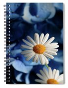 Feeling Blue Daisies Spiral Notebook