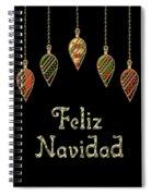 Feliz Navidad Spanish Merry Christmas Spiral Notebook