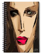 Female Expressions Xiv Spiral Notebook