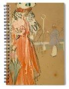 Female Figure In Red Spiral Notebook