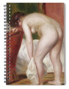 Female Nude Drying Herself Spiral Notebook