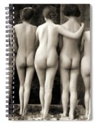 Female Nude Quintet Spiral Notebook