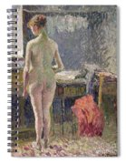Female Nude Seen From The Back Spiral Notebook