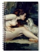 Female Nude With A Dog Spiral Notebook