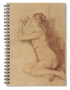 Female Nude With Folded Hands Spiral Notebook