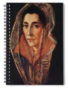 Female Portrait Spiral Notebook
