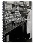 Female Scientist Conducting Experiment Spiral Notebook