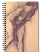 Female Standing Nude Spiral Notebook