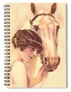 Feminine Rider Spiral Notebook