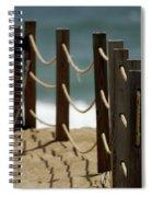 Fence Along The Beach Spiral Notebook