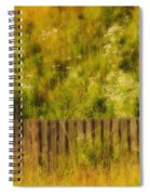 Fence And Hillside Of Wildflowers On Suomenlinna Island In Finland Spiral Notebook