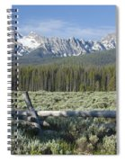 Fence And The Sawtooths Spiral Notebook