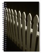 Fence Bw Spiral Notebook