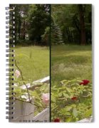 Fence Full Of Roses - Cross Your Eyes And Focus On The Middle Image Spiral Notebook