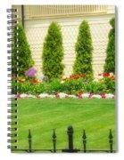 Fence Lined Garden Spiral Notebook