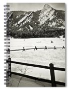 Fence Lines And Flatirons Spiral Notebook