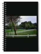 Fence On The Wooded Green Spiral Notebook