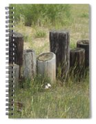 Fence Post All In A Row Spiral Notebook