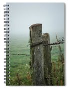 Fence Post And Fog Spiral Notebook