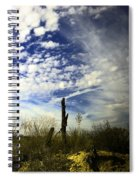 Fence Post And New Mexico Sky Spiral Notebook