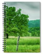 Fence Row And Tree Spiral Notebook