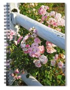 Fence With Pink Roses Spiral Notebook