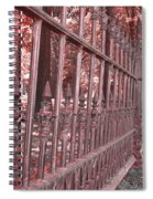 Fenced In Red Spiral Notebook