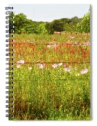 Fenced In Wildflowers Spiral Notebook