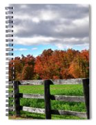 Fences, Fields And Foliage Spiral Notebook