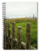 Fences In A Stormy Light Spiral Notebook