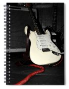 Fender Guitar And Amp In Selective Color Spiral Notebook