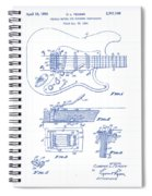 Fender Guitar Patent Drawing Spiral Notebook