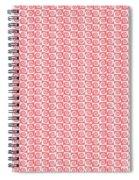 Fermat Spiral Pattern Effect Pattern Red Spiral Notebook