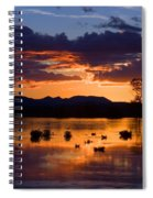 Fern Ridge Sunset Spiral Notebook