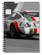 Ferrari Daytona 365 Gtb4 - Italian Flag Livery Spiral Notebook