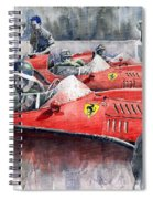 Ferrari Dino 246 F1 1958 Mike Hawthorn French Gp  Spiral Notebook
