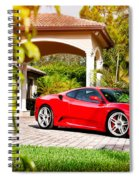 Ferrari F430 On Adv1 Wheels 2 Spiral Notebook